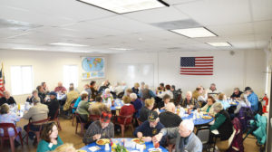 Shepherd Senior Citizens meet and eat at their new community center off Haynes road in Shepherd for the first time on March 2, 2016. (Jonathan McNiven photo)