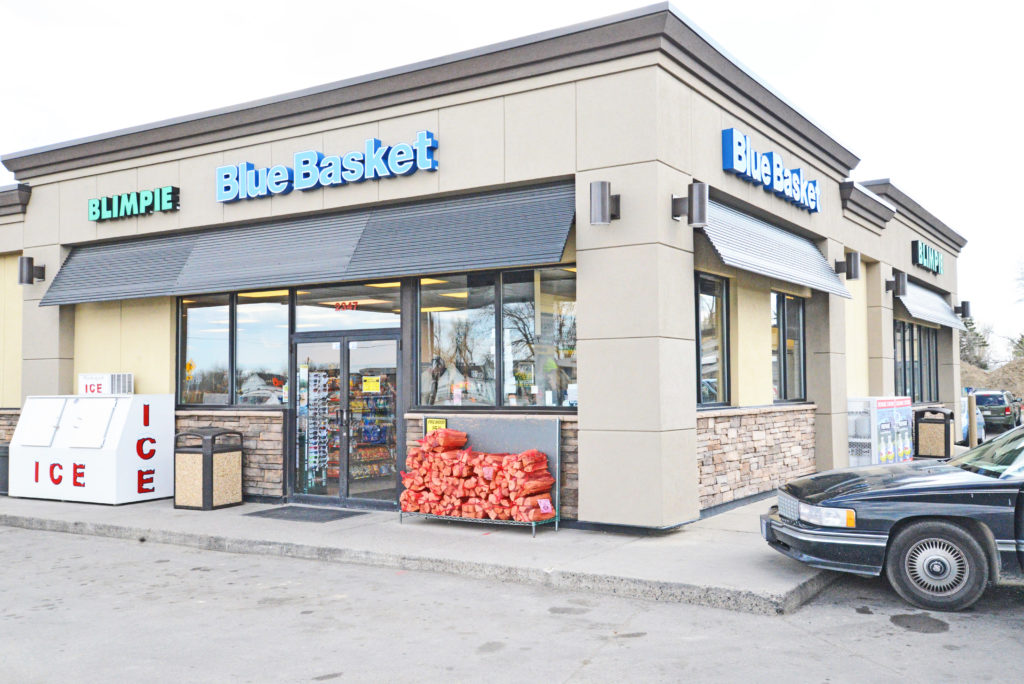 An armed, unidentified suspect wearing a black hoodie with a bandana over his face attempted to rob a clerk at The Blue Basket convenience store at 2347 Main Street in the Heights early Monday morning. The clerk was not injured in the incident. (Jonathan McNiven photo)
