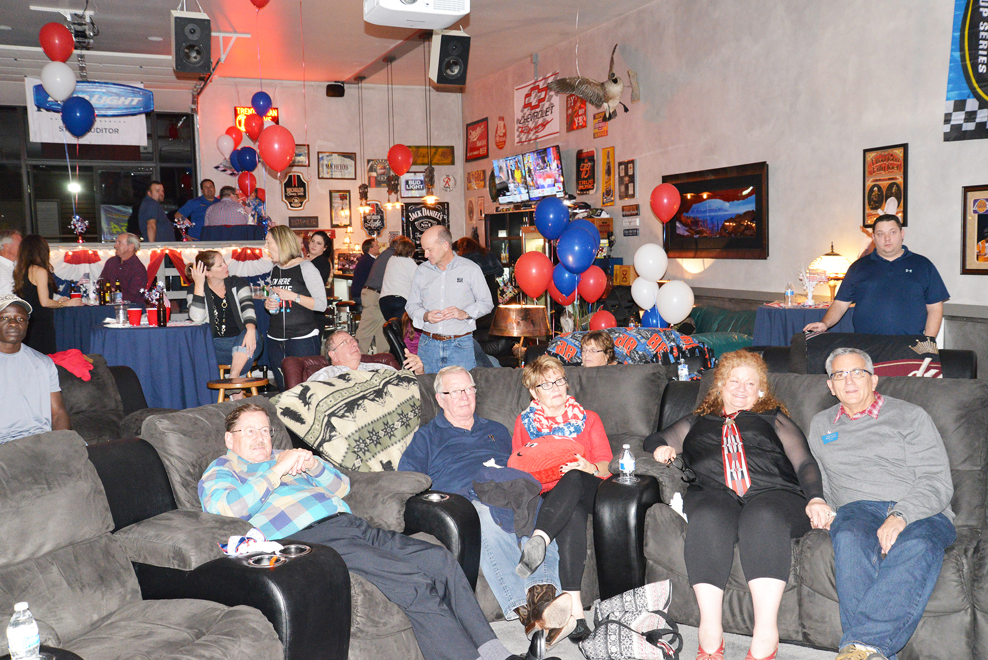 GOP candidates and fans watched returns from Tuesday's general election at Lone Wolf Energy in Billings. Billings residents, supporters and candidates watch national and local election results late swing state results come in before Donald Trump's victory speech. (Jonathan McNiven Photo)
