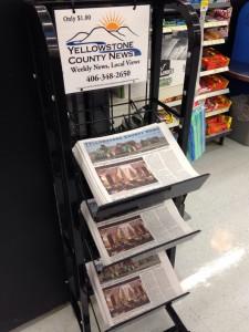 Newspaper Display Rack